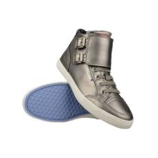Levis női utcai cipő Aloha Mid Lace up, ezüst, bőr, természetes, 37