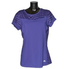 Adidas PERFORMANCE fitness felső SPO Edge Tee, női, lila, poliészter, L