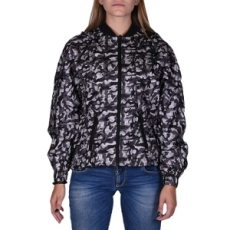 Russel Athletic Kabát, Russel Athletic Russell Printed Wind Runner, női, khaki, poliészter, L