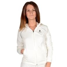 Le Coq Sportif végig cipzáros pulóver Astrantie track Tw, női, fehér, pamut, L