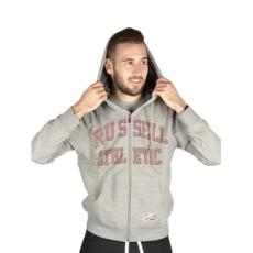 Russel Athletic Végig cipzáros pulóver, Russel Athletic Russell Athletic, férfi, szürke, pamut keverék, L