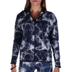 Adidas PERFORMANCE végig cipzáros pulóver GYM FZ Hoodyaop Multco/Conavy, női, kék, pamut, L
