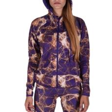 Adidas végig cipzáros pulóver GYM FZ Hoodyaop, női, lila, pamut, L