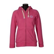 Sealand végig cipzáros pulóver, női, rózsaszín, préselt, puha polár, L
