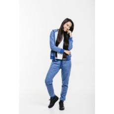 Dorko végig cipzáros pulóver Basic Sweat Hoody Blue Marl, női, kék, pamut, L