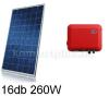 4,1 kWp rendszer Canadian napelem + SMA inverter