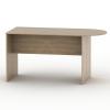Ívelt asztal tárgyalóterembe, sonoma tölgyfa, TEMPO ASISTENT NEW 022