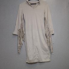 Fehér, homok színű ruha - Egy méret