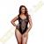 Baci Lingerie Plus Size rafinált necc body - fekete - XL/XXL méret