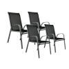 OEM Egymásra helyezhető kerti szék készlet, 4 db - magas háttámlával