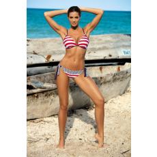 marko Bikini Anna Cosmo M-440 piros/fehér csíkos