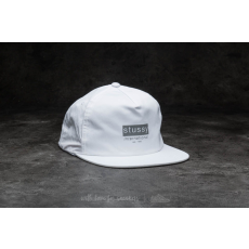 STUSSY Reflective Tape Cap White