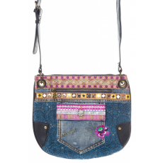 Desigual Brooklyn Exotic Jean Crossbody táska