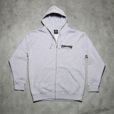 THRASHER Magazine Logo Zip Hood Gray