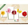 Képáruház.hu Premium Kollekció: flower nature garden botany daisy bloom pot(125x70 cm, S02 Többrészes Vászonkép)