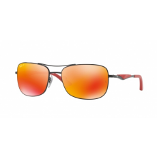 Ray-Ban RB3515 002/6S BLACK DARK BROWN MIRROR ORANGE POLAR napszemüveg