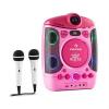 Auna Kara Projectura karaoke rendszer projektorral, LED fény show, rózsaszín