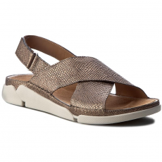 Clarks Szandál CLARKS - Tri Alexia 261241644 Metallic Leather
