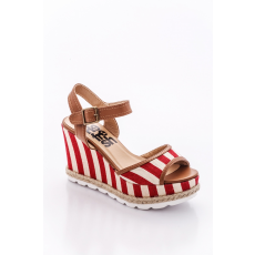 Refresh 63508 SANDAL LADY CANVAS RED .