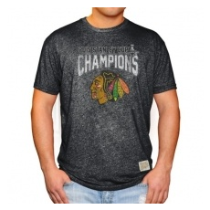 Chicago Blackhawks Póló 2015 Stanley Cup Champions Mock Twist - XL