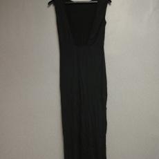 Fekete,hátul kivágott maxi ruha - Egy méret