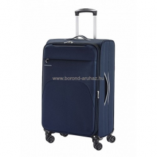 Gabol ZAMBIA kék bővíthető négykerekű közepes bőrönd GA-1134/69