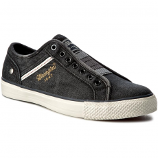 Wrangler Tornacipő WRANGLER - Starry Slip On Denim WF085267E Black/Denim 337