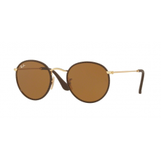 Ray-Ban RB3475Q 9041 ROUND CRAFT LEATHER BROWN BROWN napszemüveg
