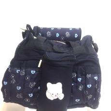 Csakcsajok Sötétkék macis kismama táska