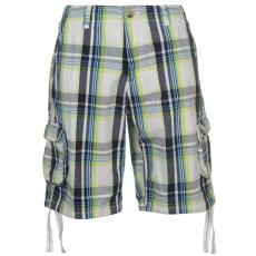 SoulCal Férfi kockás zsebes rövidnadrág fehér XS