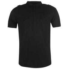 Firetrap Double Pocket férfi galléros póló fekete S