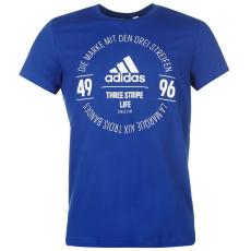 Adidas Essential Circle Logo férfi póló királykék M