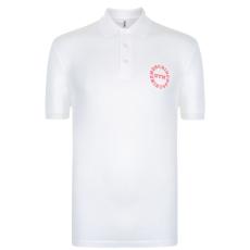 Moschino Motif férfi galléros póló fehér L