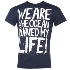 Official We Are The Ocean férfi póló kék S