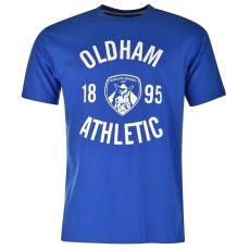 Team Oldham Crew férfi póló kék S