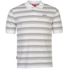 Slazenger Pique férfi galléros póló fehér XL