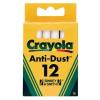 Crayola 12 db pormentes fehér táblakréta