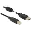 DELOCK Cable USB 2.0 Type-A male > USB 2.0 Type-B male 1.0 m black