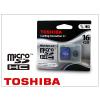 Toshiba 16 GB microSDHC™ Class 4 memóriakártya+SD adapter