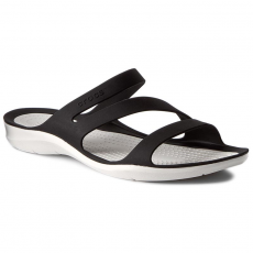 CROCS Papucs CROCS - Swiftwater Sandal W 203998 Black/White