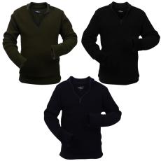 vidaXL 3 db zöld/fekete férfi tengerész/katona XXL méretű pulóver