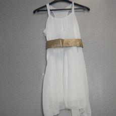 Fehér ruha arany övvel - Egy méret