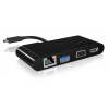 RaidSonic IcyBox PC/Notebook multi dokkoló, USB Type-C - LAN, HDMI, VGA IB-DK403-C