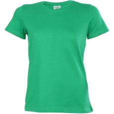 KEYA Női környakas pamut póló, kelly green