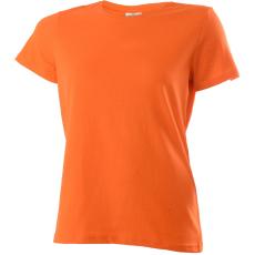 KEYA Női környakas pamut póló, narancs