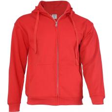 KEYA unisex cipzáras-kapucnis pulóver, piros