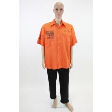 Narancssárga férfi ing Sing-Sing felirattal