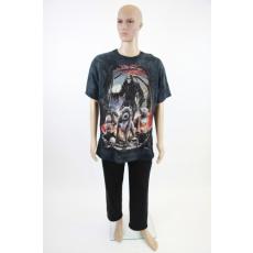 A kaszás vérebekkel - férfi pamut póló 3D-s