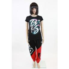 Piros-fekete Babystaff női szabadidő nadrág