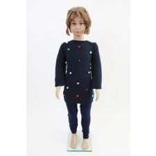 Lányka kötött felső gyerek pulóver, kardigán